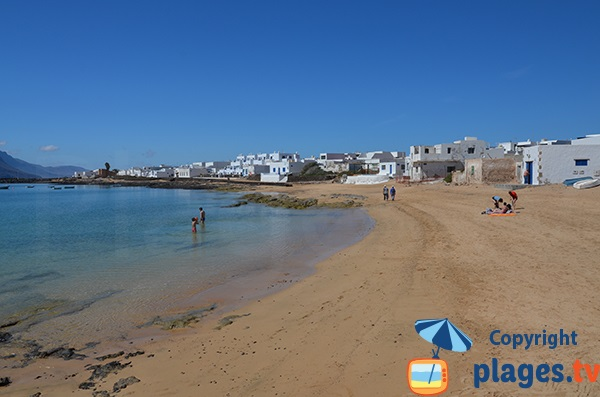 Photo de la plage de Caleta de Sebo à La Graciosa