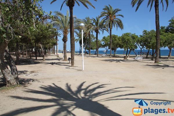 Promenade le long de la plage d'El Callao à Mataro