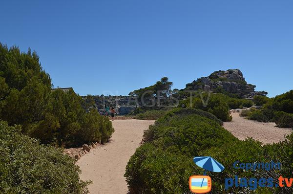 Chemin d'accès à la plage de Calo del Moro - Majorque
