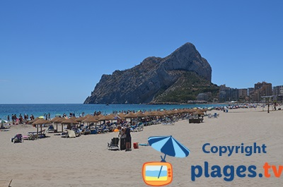 Plage à Calpe en Espagne dans la province d'Alicante