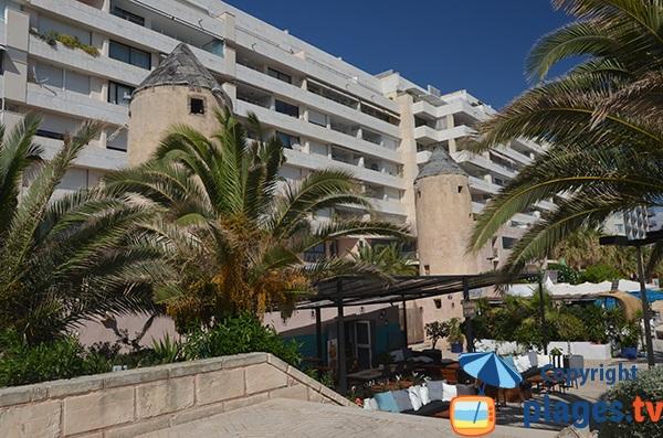 Mills along the beach of Portixol - Palma de Mallorca