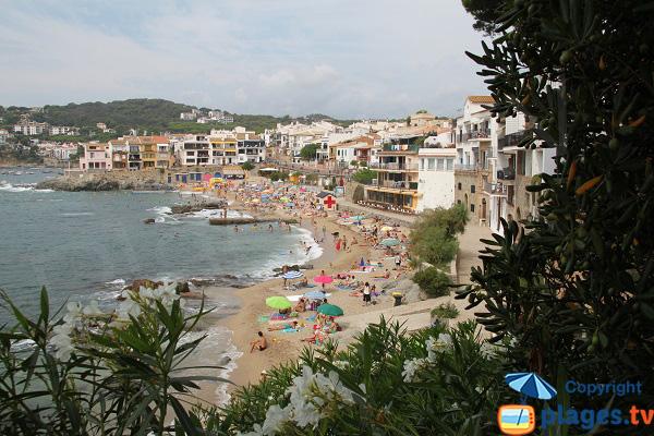 Plage de Canadell à Palafrugell - Espagne