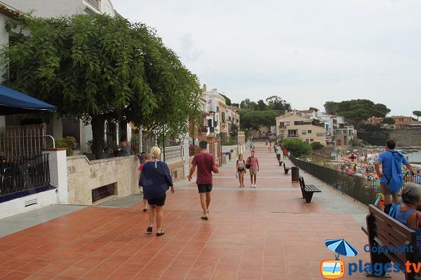 Esplanade en front de mer à Calella de Palafrugell