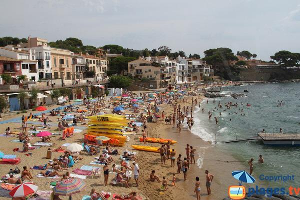 Photo de la plage de Canadell à Calella de Palafrugell - Espagne