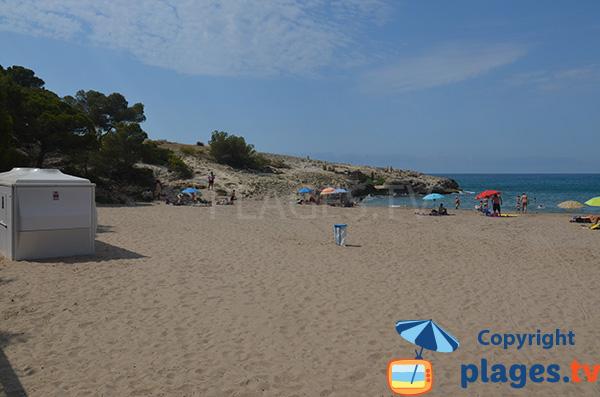 plage de Canyadell à Torredembarra en Espagne