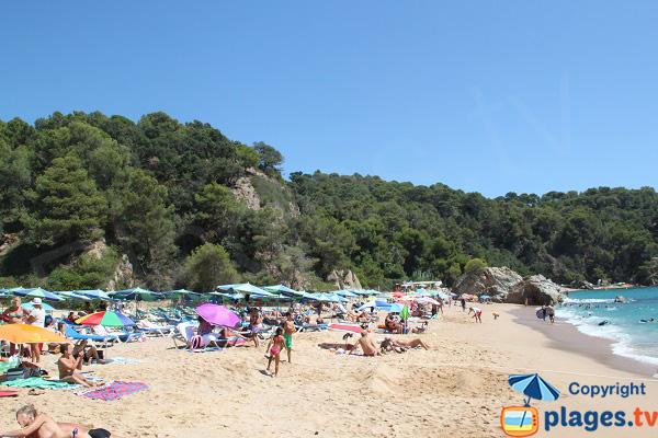 Seconde partie de la plage de Canyelles à Lloret de Mar