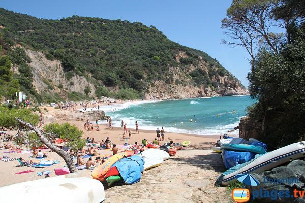 Photo de la plage de Canyerets à Sant Feliu de Guíxols en Espagne