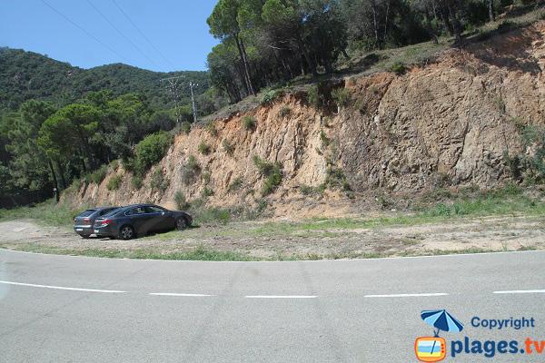Parking gratuit de la plage de Canyerets à Sant Feliu de Guíxols