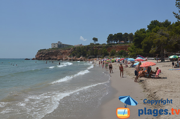 Belle plage au Cap Roig - l'Ampolla