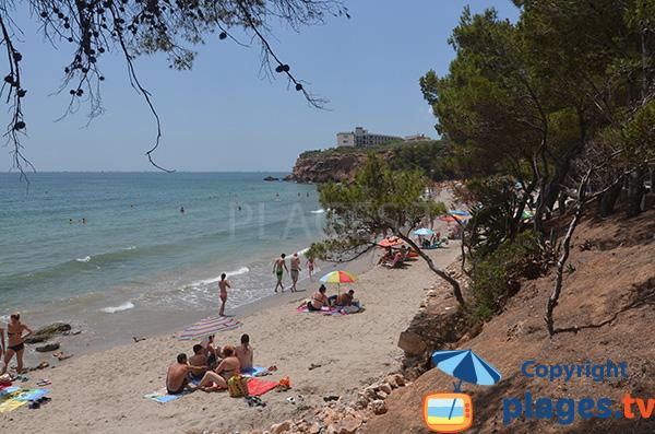 Photo de la plage du Cap Roig à l'Ampolla - Espagne
