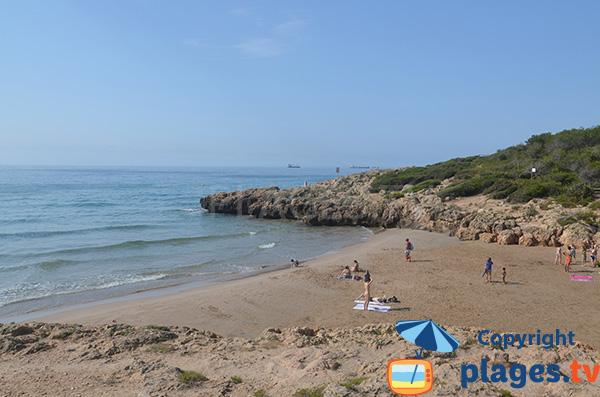 Photo de la plage des Capellans à Tarragone