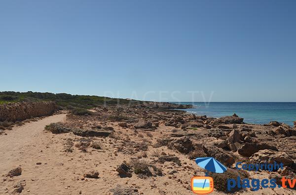 Sentier d'accès à la plage de Carajol - Majorque