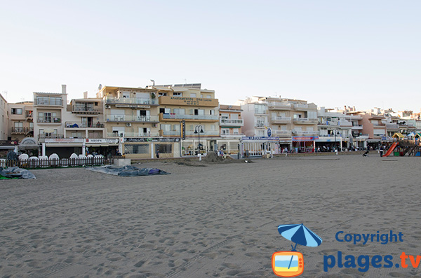 Front de mer de Torremolinos du côté de la plage de Carihuela