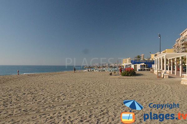 Photo de la plage de Carvajal à Fuengirola en Andalousie