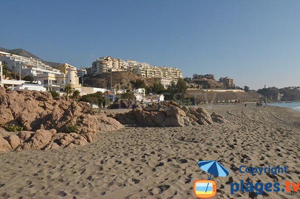plage de Carvajal Nord à Fuengirola au sud de Malaga