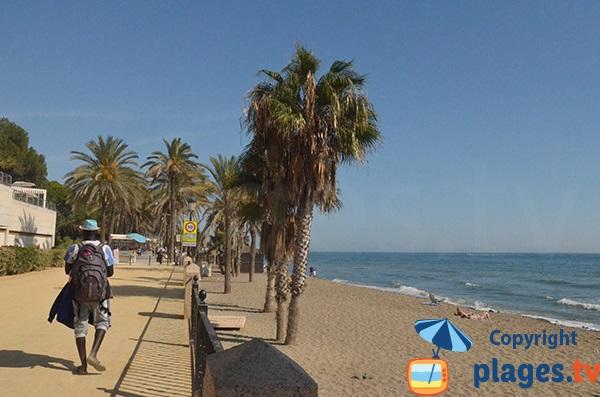 Plage Casablanca à Marbella - Andalousie