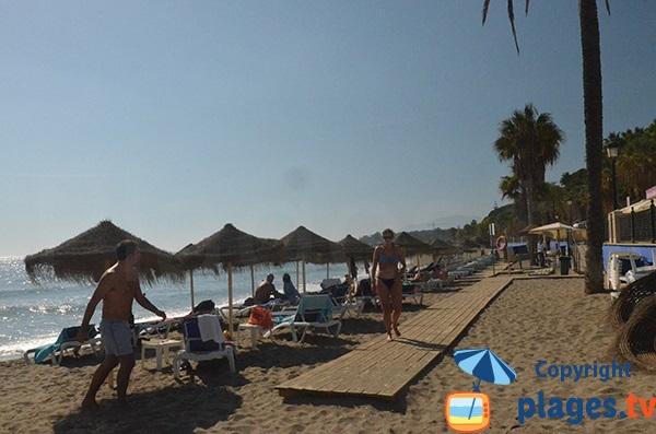 Zone privée sur la plage Casablanca - Marbella