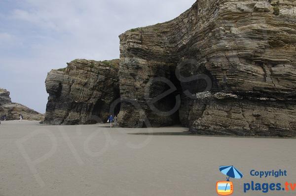 Falaises de la plage des Cathédrales