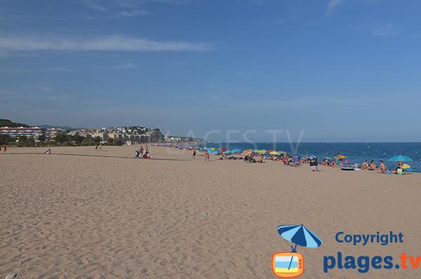 Plage de Cavaio à Arenys de Mar en Espagne