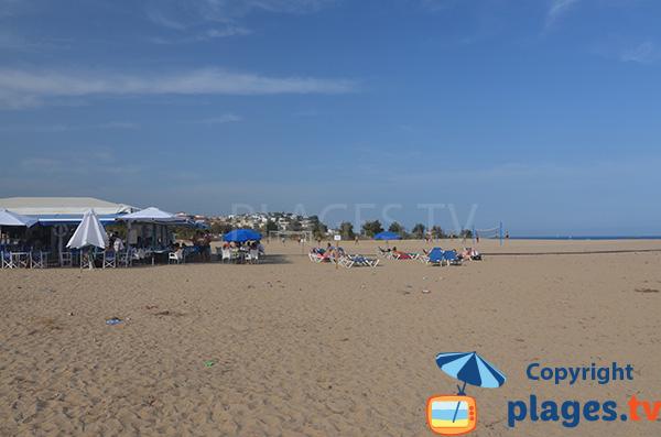 Restaurant sur la plage de Cavaio à Arenys de Mar