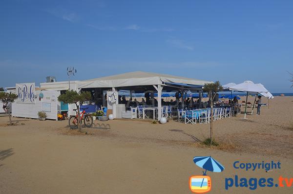Chiringuito sur la plage de Cavaio à Arenys de Mar