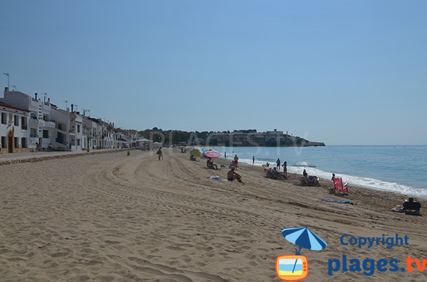 Photo de la plage d'Altafulla en Espagne