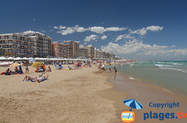 Belle plage à Guardamar - Plage du Centre