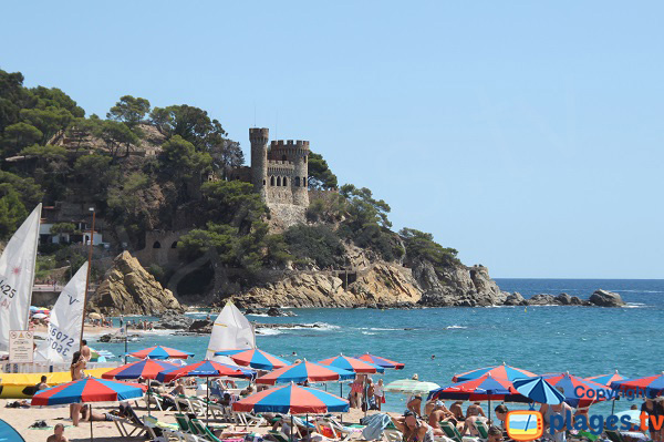 Center beach in Lloret de Mar