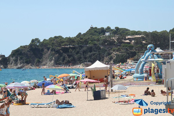 Kids area on the Lloret de Mar beach