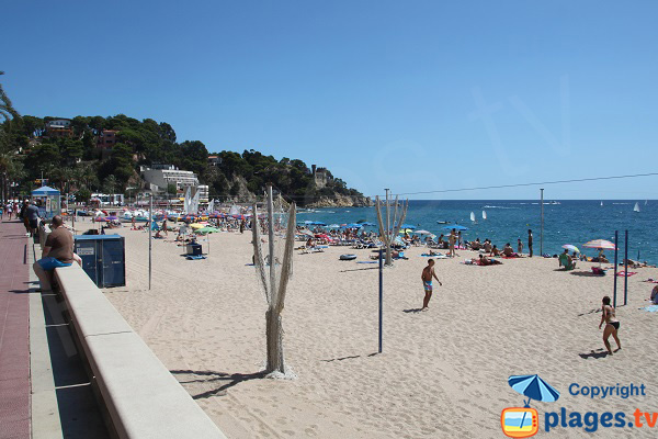 beach volley in Lloret de Mar