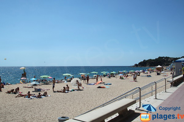 Main beach of Lloret de Mar on the Costa Brava in Spain