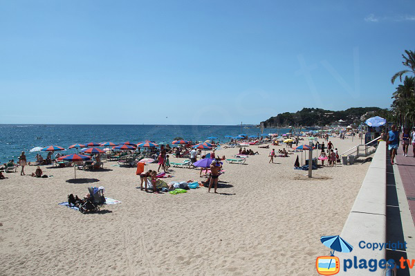 Photo of Lloret de Mar beach in Spain