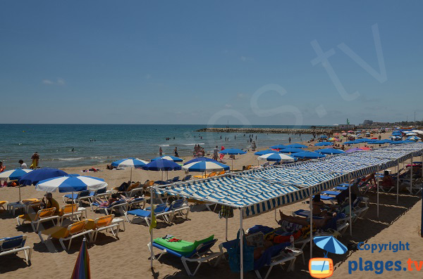 Private beach in Sitges