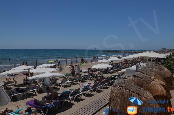 Main beach of Sitges in Spain
