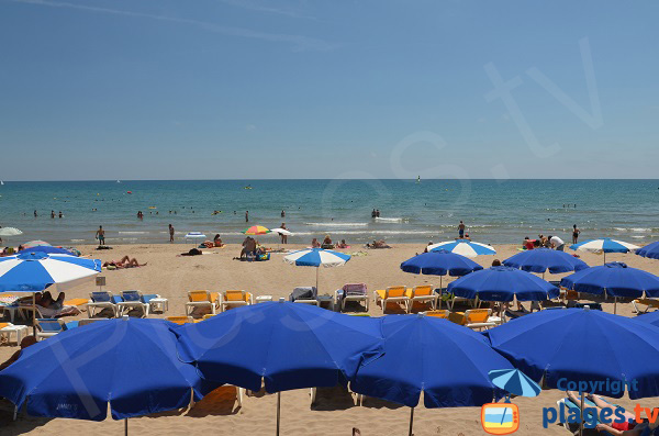 Sand beach in Sitges