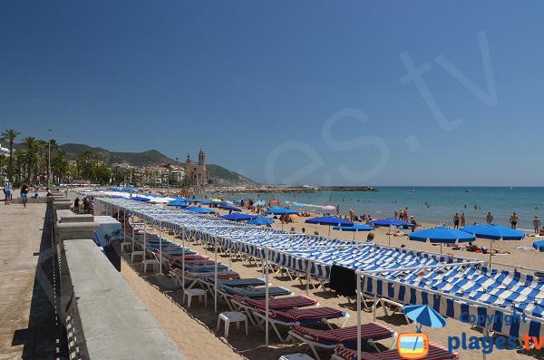 plage privée barcelone