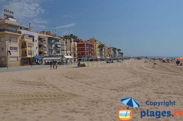 Front de mer de Torredembarra en Espagne