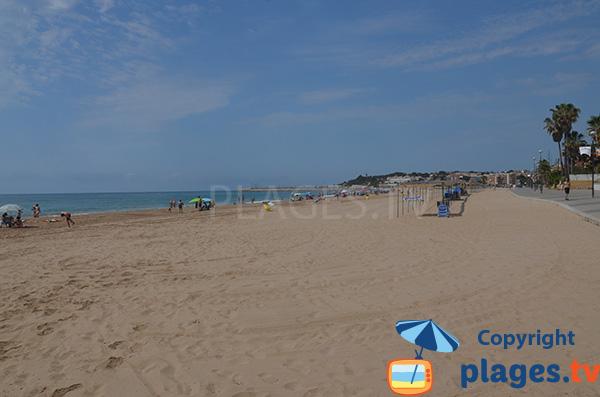 Photo de la plage du Centre à Torredembarra en Espagne