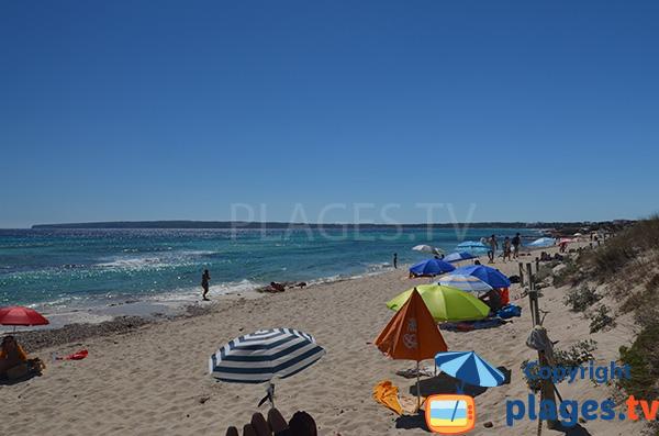 Plage publique à Playa Migjorn - Formentera - Codol Foradat