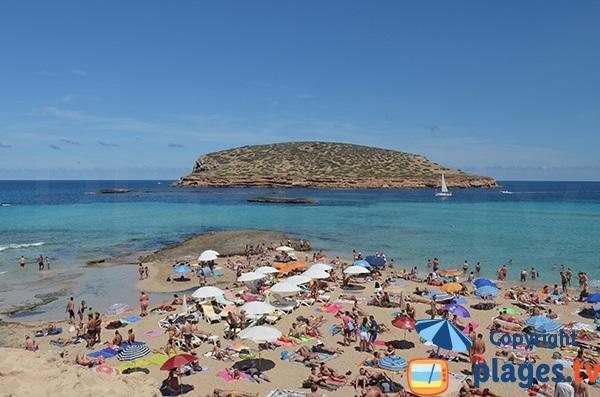 Plage Comte au niveau de la pointe - Ibiza
