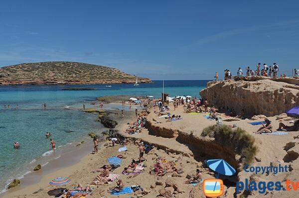Plage comte avec vue sur l'ile des Bosc - Ibiza
