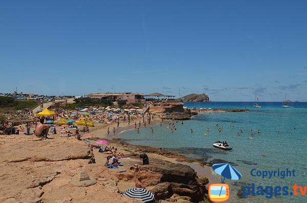 Plage Comte à Ibiza