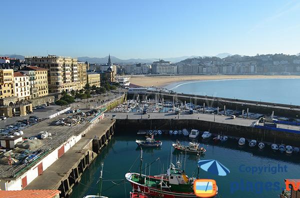 Port of San Sebastian in Spain
