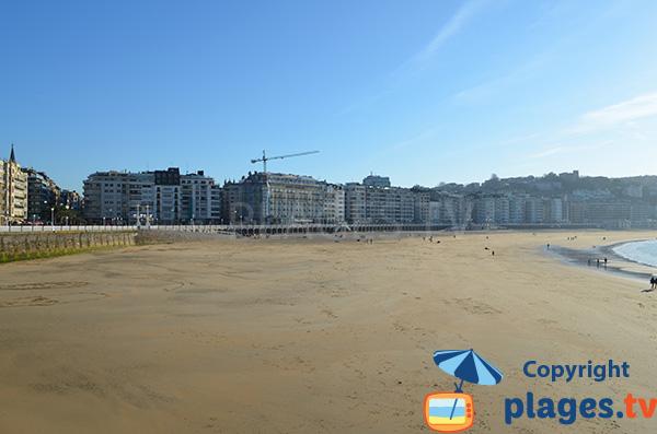 Great beach in downtown San Sebastian - Spain