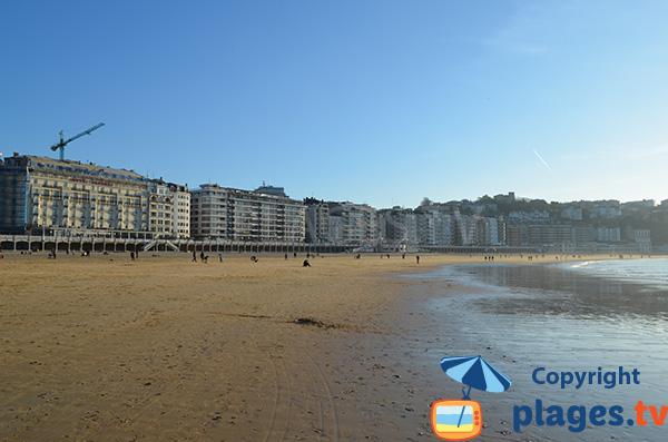 Most beautiful beach of San Sebastian - Spain