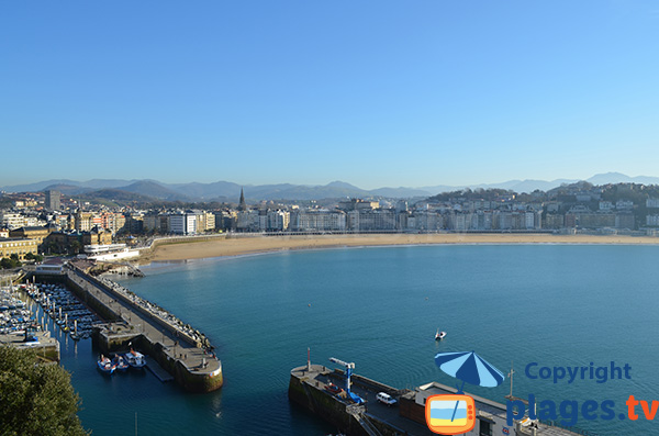 Photo of La Concha beach in San Sebastian - Spain