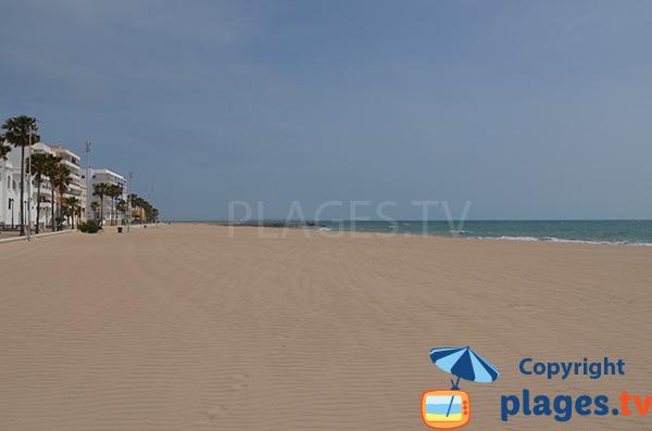 Photo de la plage de Costilla à Rota - Andalousie
