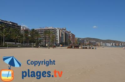 Plage de Cullera en Espagne à proximité de Valence