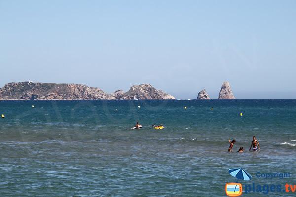 Iles Medes vue depuis la plage del Grau de Pals