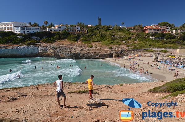 Petite plage de Domingos à Cala Tropicana - Majorque